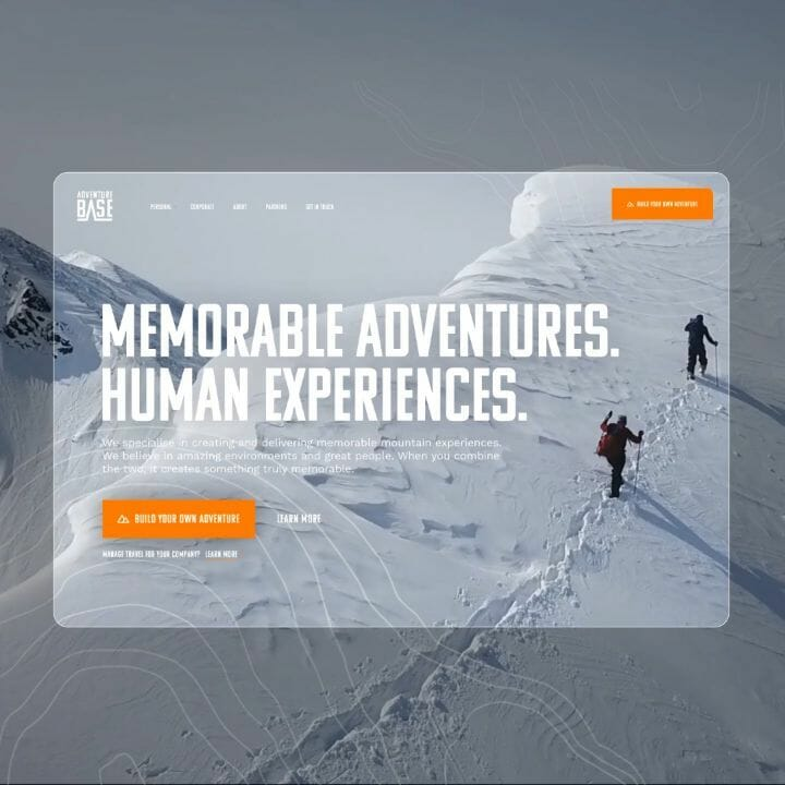 Motion snippet of early conceptual work which became the homepage of the newly launched @adventurebase website. Check out the live site  #webdesign #responsive #responsivedesign #travel #travelling #travelgram #adventure #ui #designinspiration #designinspo