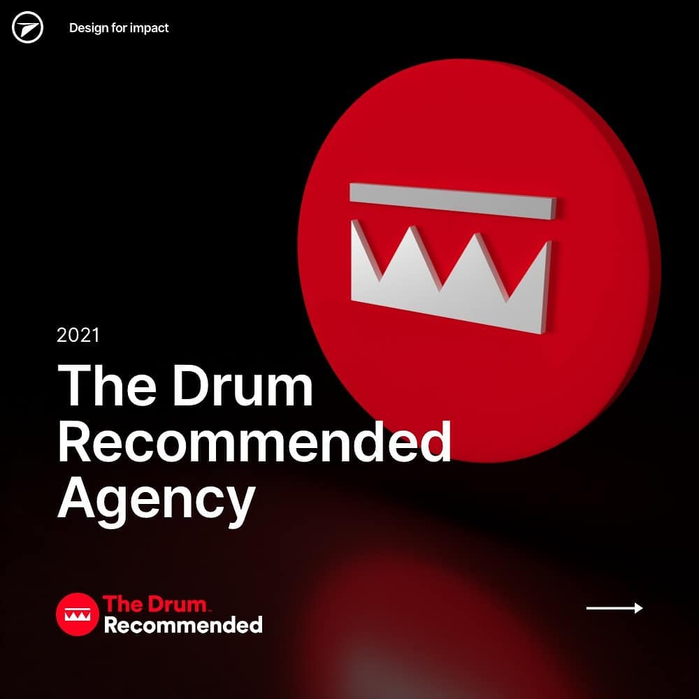 Wow. We're incredibly proud to be announced as a @thedrummag recommended agency for 2021.  #TheDrum #DesignAgency #2021